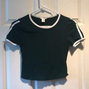 Bozzolo short sleeve cropped top